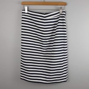 J.Crew #2 Pencil Skirt Striped Size 2